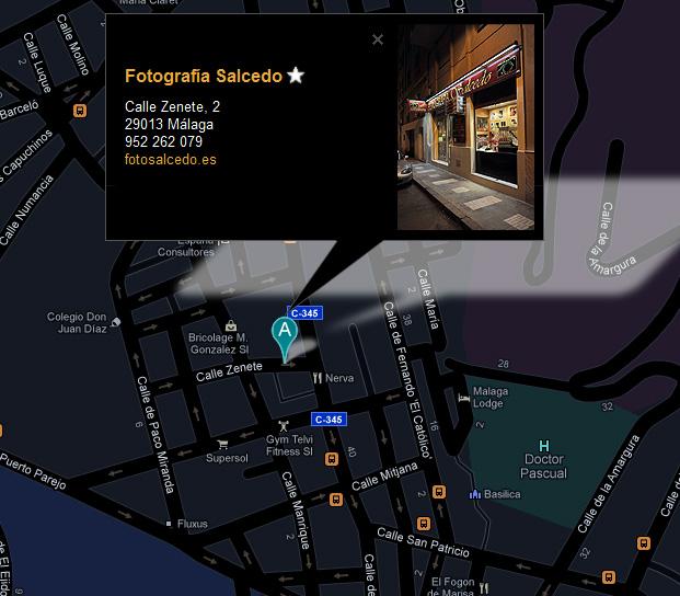 Localización de Fotografía Salcedo en Málaga